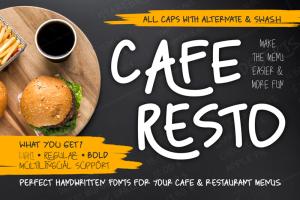 Caferesto Font (FREE), Membuat Menu Lebih Mudah dan Menyenangkan