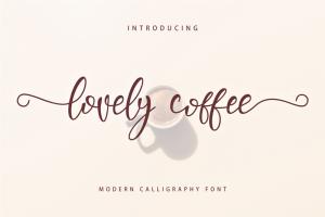 Lovely Coffee Font (FREE), Keanggunan Tulisan Tangan yang Luar Biasa