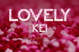 Lovely Kei Font (FREE), Font Romantis yang Otentik