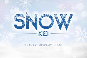 Snow Kei Font (FREE), Font Cantik dengan Detail Musim Dingin