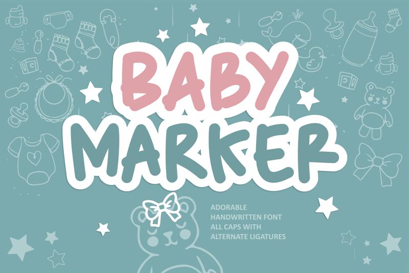 Baby Marker Font (FREE), Font Tulisan Tangan yang Menggemaskan